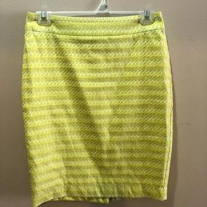 Green pencil skirt.